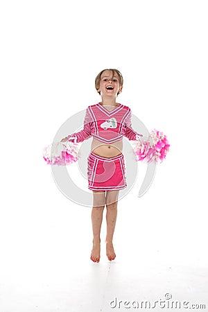 Cheerleader little girl