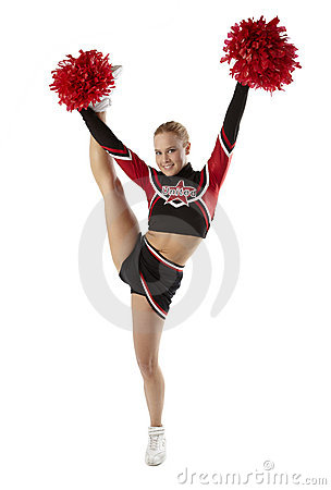Cheerleader pose