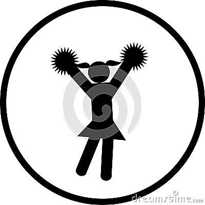 cheerleader vector symbol