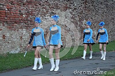 Cheerleadern Redaktionelles Bild