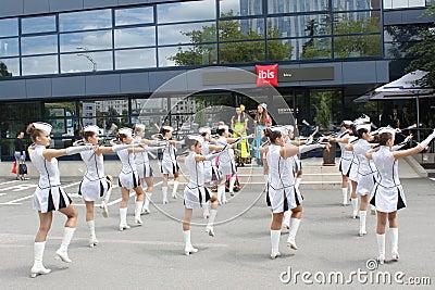 Cheerleaders Obraz Stock Editorial