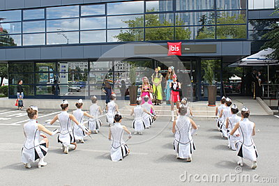 Cheerleaders Redactionele Stock Foto