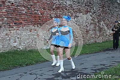 Cheerleaders Redactionele Afbeelding