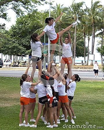Cheerleaders Editorial Image