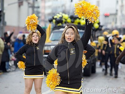 Cheerleaders at the Carnival street parade 2010 Editorial Stock Photo