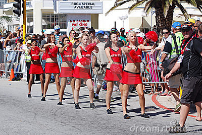 Cheerleaders Ironman South Africa 2011 Editorial Photography