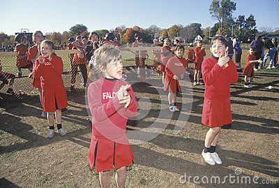 Cheerleaders in a micro-league Editorial Photography