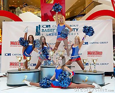 Cheerleaders Editorial Stock Image