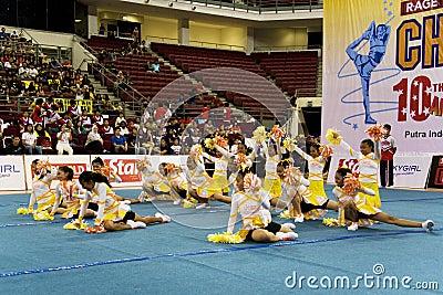 Cheerleading Championship Action Editorial Photo