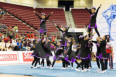 Cheerleading Championship Action Editorial Photo
