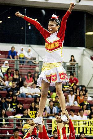 Cheerleading Championship Action Editorial Photography