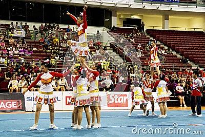 Cheerleading Championship Action Editorial Image