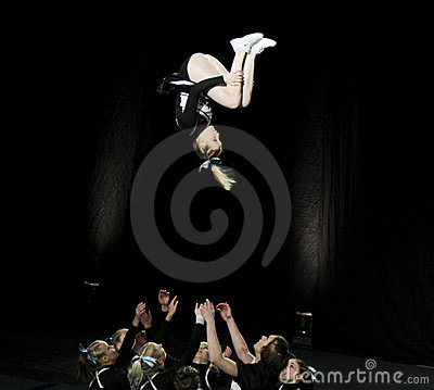 Cheerleading Championship of Finland 2010 Editorial Stock Image