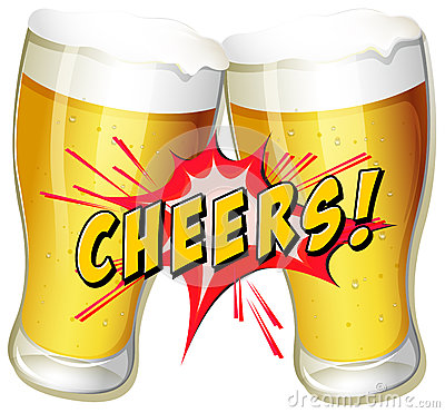 Cheers Beers Stock Vector - Image: 46451839