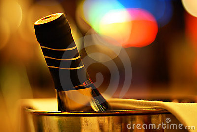 Cheers! Bottle of wine