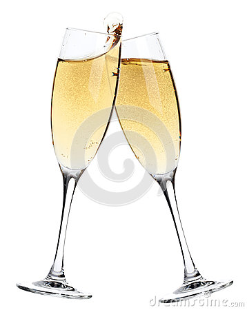 Free Cheers! Two Champagne Glasses Stock Photos - 77257193