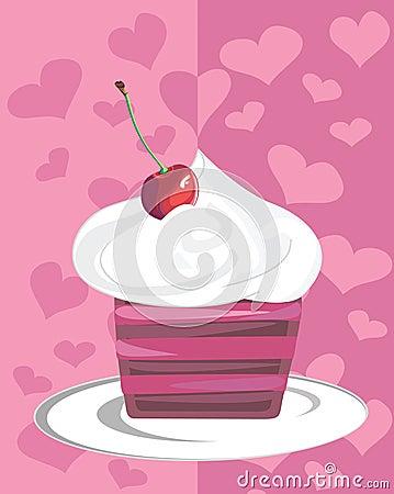 Cheery cupcake
