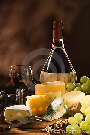 Free Cheese And Wine Stock Photography - 11531802