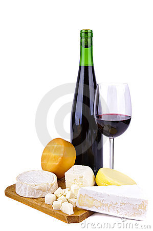 Free Cheese And Wine Stock Image - 17684591