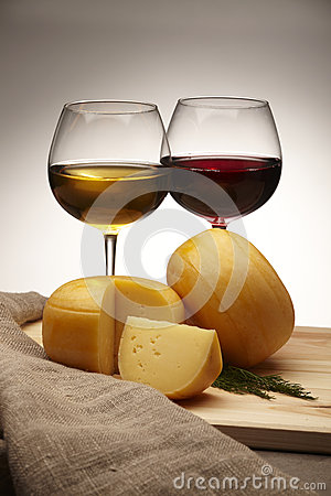 Free Cheese And Wine Royalty Free Stock Photo - 25228435