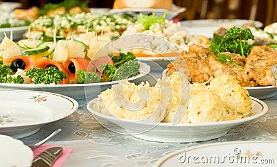 Cheese balls - Banquet in the restaurant