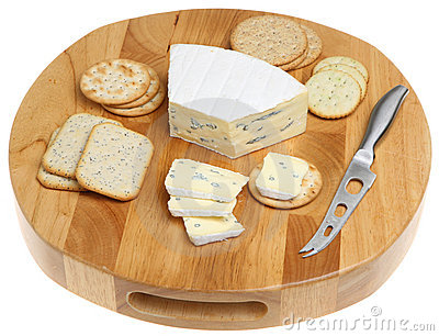 Cheese  Board & Biscuits Isolated