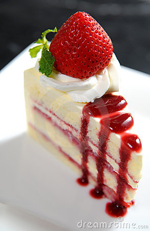 Cheese cake New-York Stock Photo