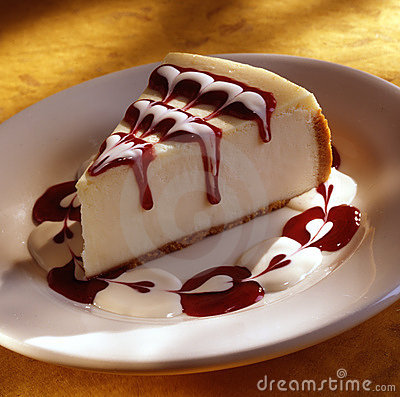 Free Cheese Cake With Strawberry Sauce Stock Photography - 11306472