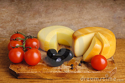 Cheese and cherry tomatoes