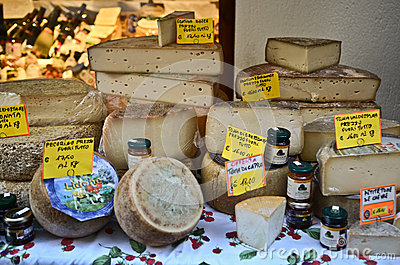 Cheese collection Editorial Stock Photo