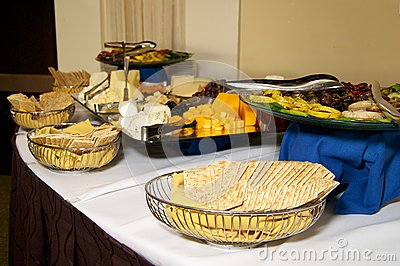 Cheese and cracker party table
