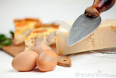 Cheese Egg and Quiche Lorraine