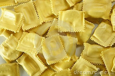 Cheese filled Italian pasta texture