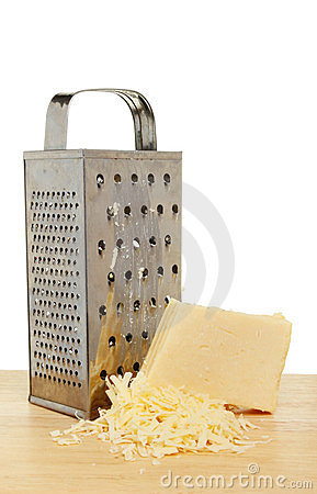 Cheese grater and cheese