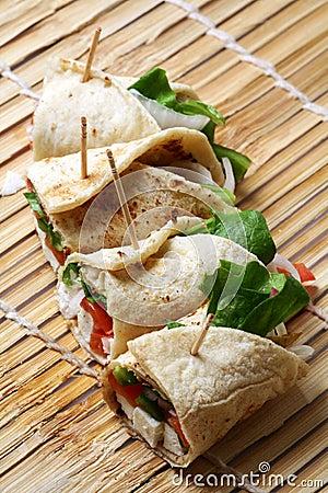 Free Cheese Kathi Rolls Stock Photo - 18248370