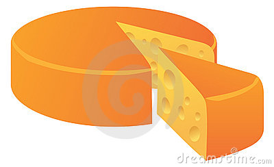 Cheese loaf isolated on white