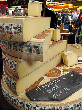 Cheese at market Editorial Stock Image