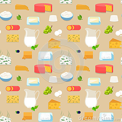 Free Cheese Milk Dairy Grapes Pattern Vector Flat Dorblu Blue Cheese Royalty Free Stock Image - 69372676