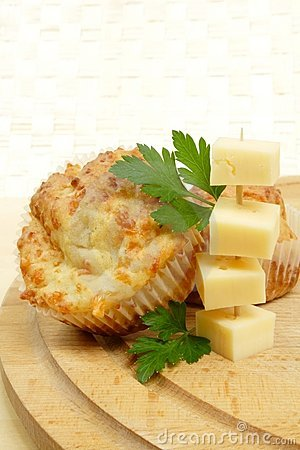 Cheese muffins Stock Photo