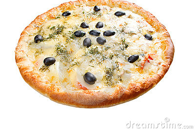 Cheese Pizza with white background,