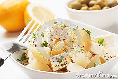 Cheese and potato salad