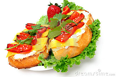 Cheese And Red Pepper Sandwich