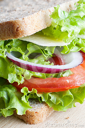 Free Cheese Salad Sandwich Stock Image - 24523931