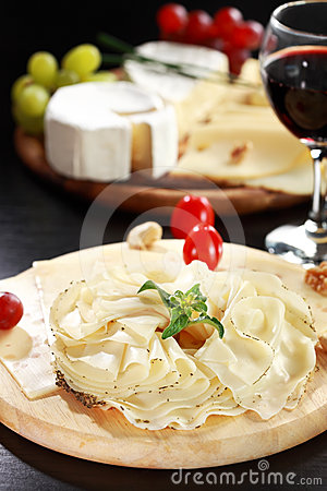 Cheese and salami platter