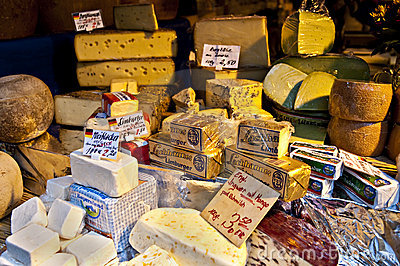 Cheese stand Editorial Photo