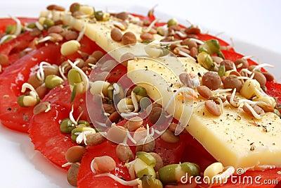 Cheese and tomatoe