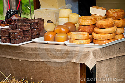Cheese and traditional product display