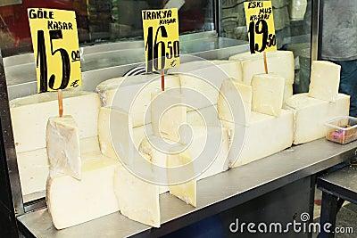 Cheese in Turkish market