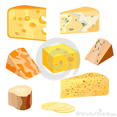 French Cheese Icon, Flat Style Stock Vector - Image: 79310623