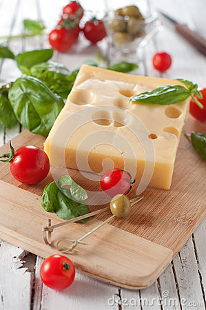 Cheese and vegetable